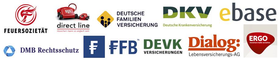 Feuersozietät, direct line, deutsche Familienversicherung, DKV, ebase, DMB Rechtsschutz, FFB, DEVK, Dialog, Ergo Lebensversicherung