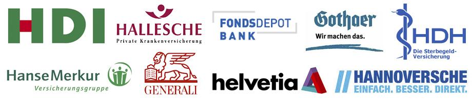 HDI, Hallesche, Fondsdepot, Gothaer, HDH, HanseMerkur, Generali, Helvetio, Hannoversche