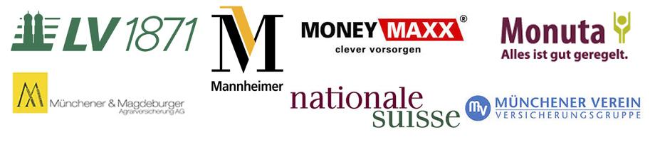 LV1871, Mannheimer, MoneyMaxx, Monuta, Münchener & Magdeburger, Nationale Suisse, Münchener Verein