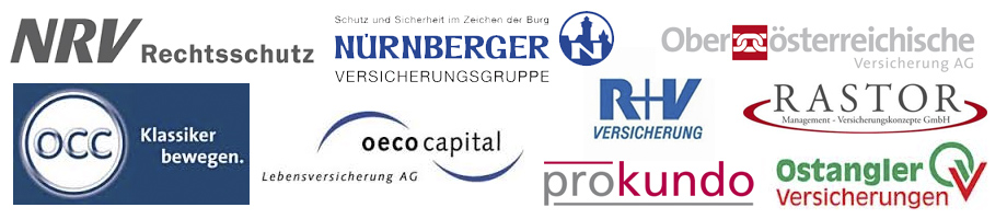 NRV Rechtsschutz, Nürnberger, R+V, Oberösterreichische, Rastor, Ostangler, ProKundo, oecocapital, occ
